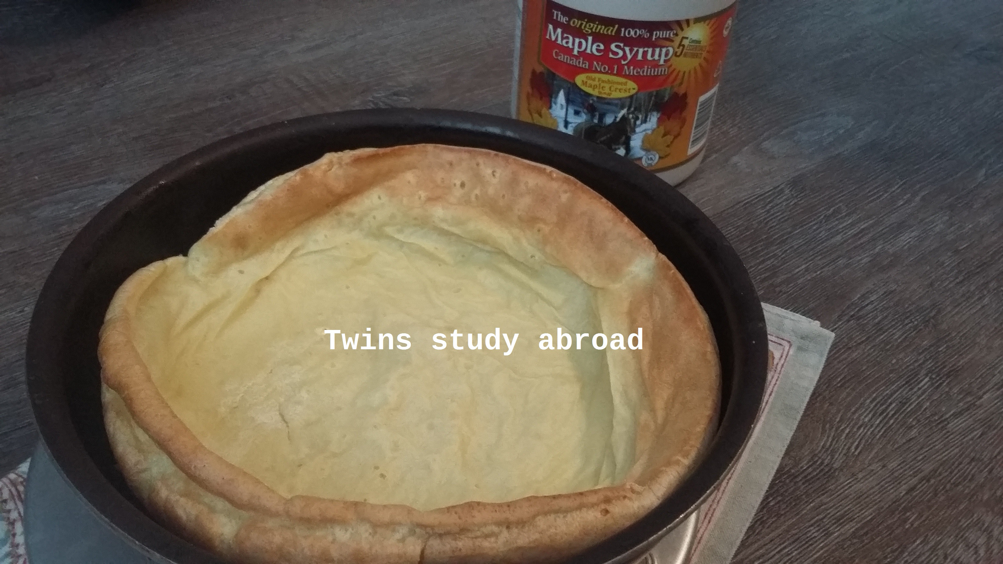 楓糖Dutch Baby 荷蘭烤鬆餅