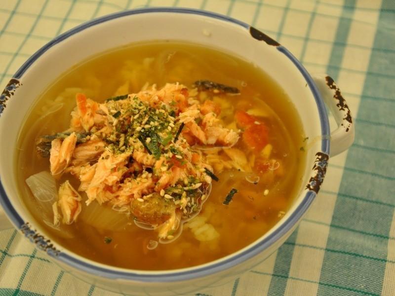超簡單美味鮭魚茶泡飯