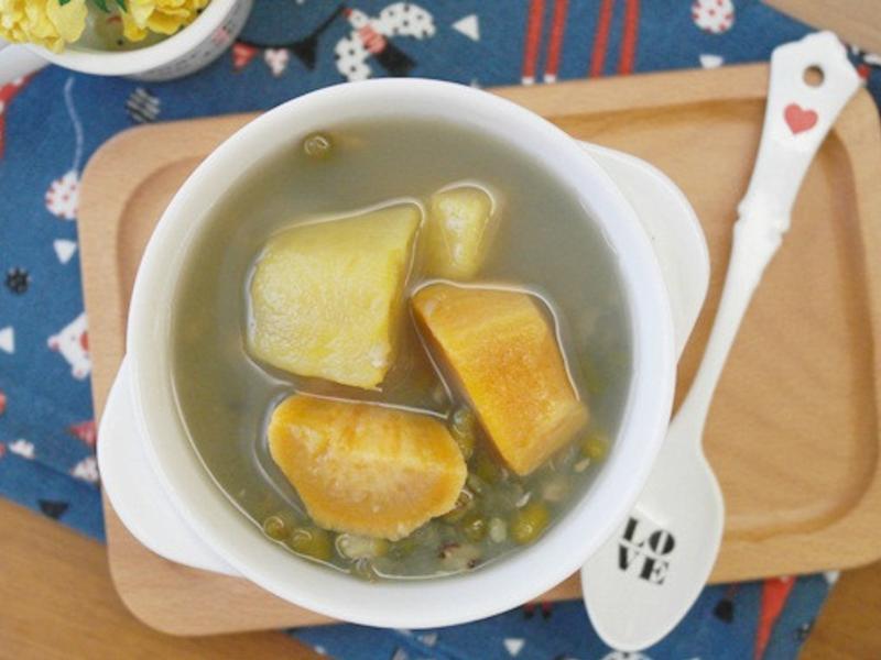 免浸泡「綠豆地瓜湯」半小時完成!!