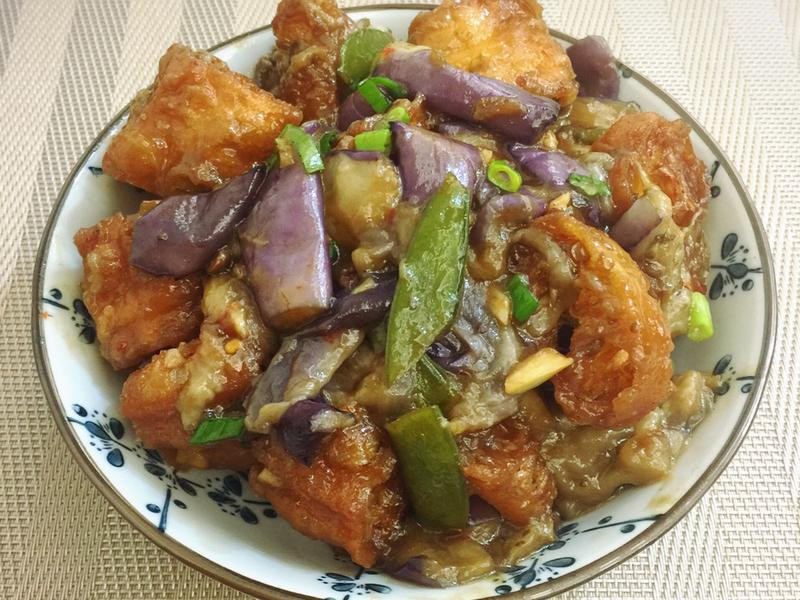 魚香茄子燴油條