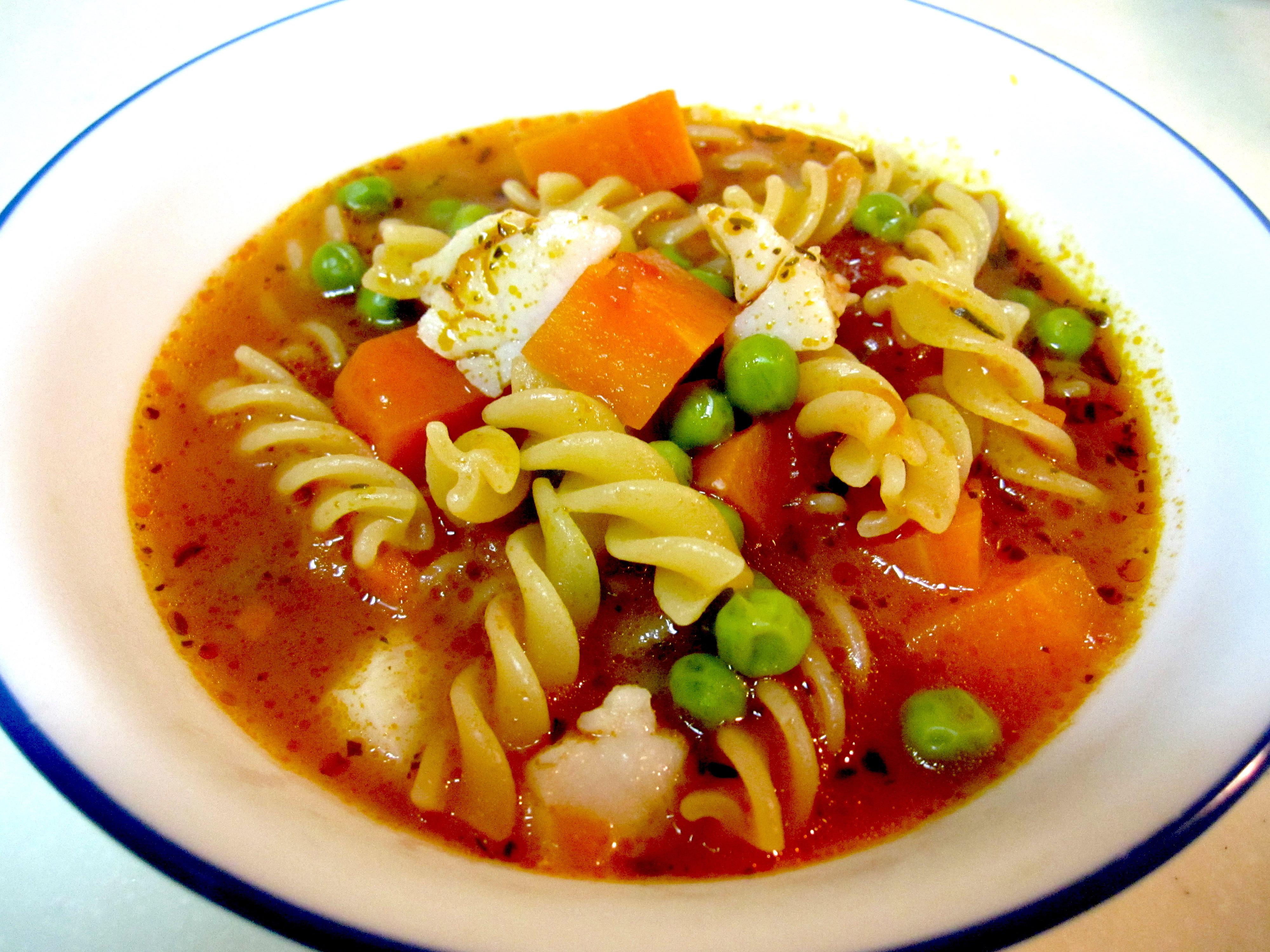 蕃茄海鮮蔬菜螺旋麵湯【完美絕配義式饗宴】