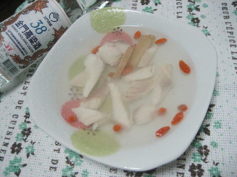 鮮魚肉片湯_38度金門高粱酒