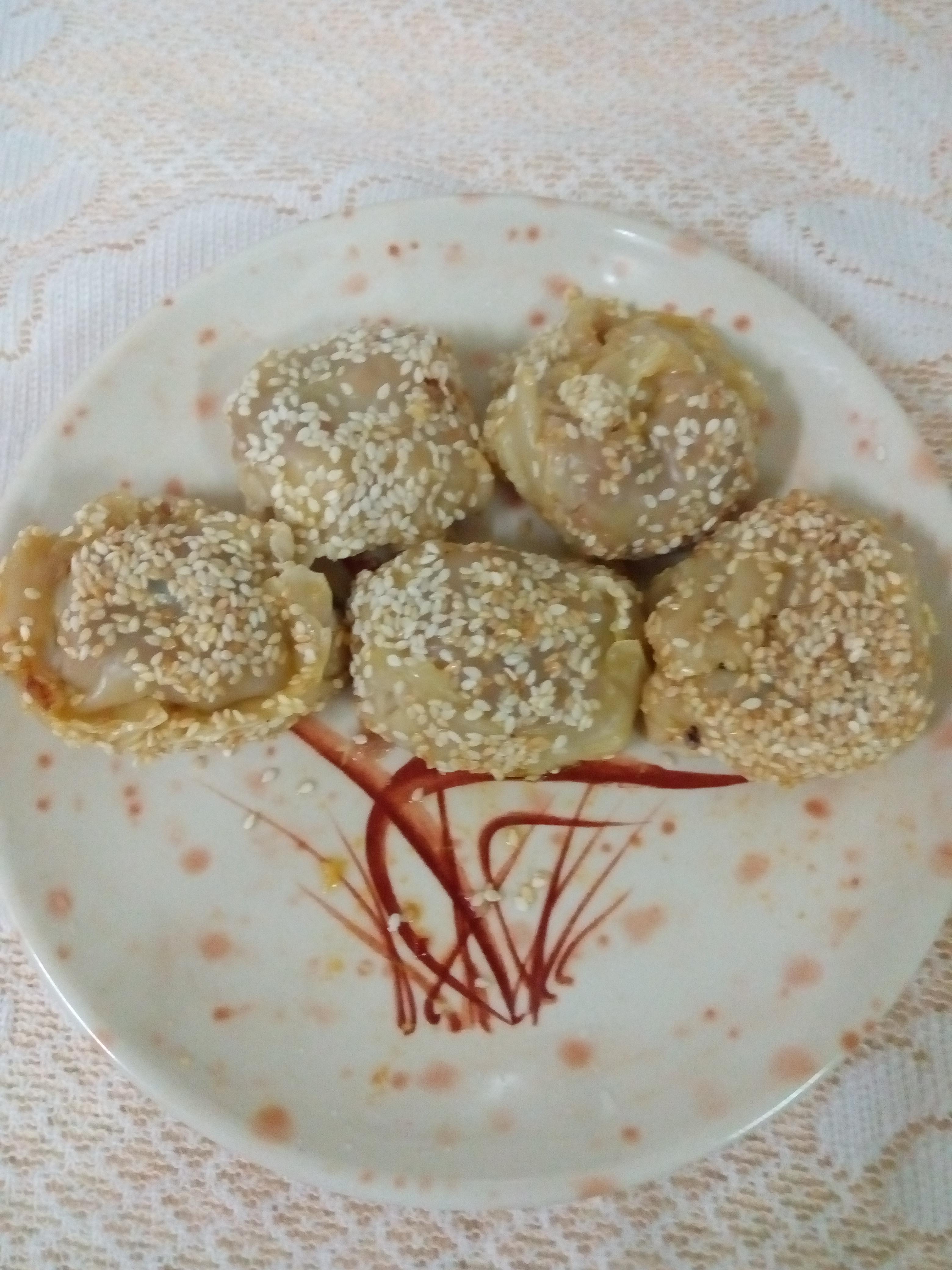 水餃泡菜芝麻餡餅
