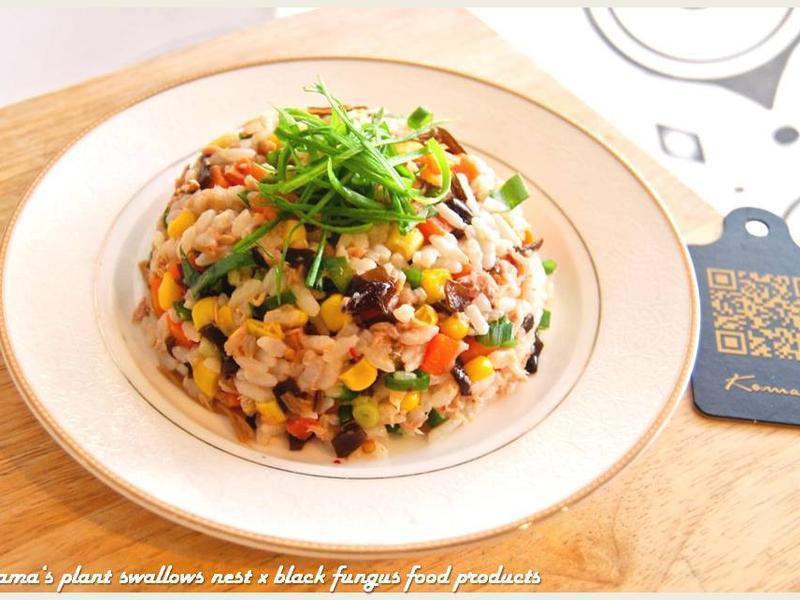 黑木耳鮪魚玉米鮮蔥拌飯.柯媽媽の植物燕窩