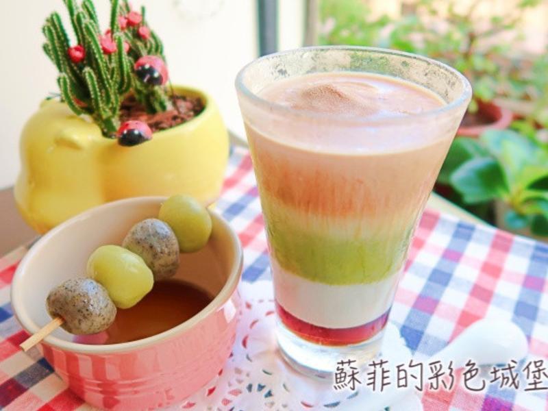 玩美混搭 古早味糖蜜 伯爵奶茶 日式抹茶