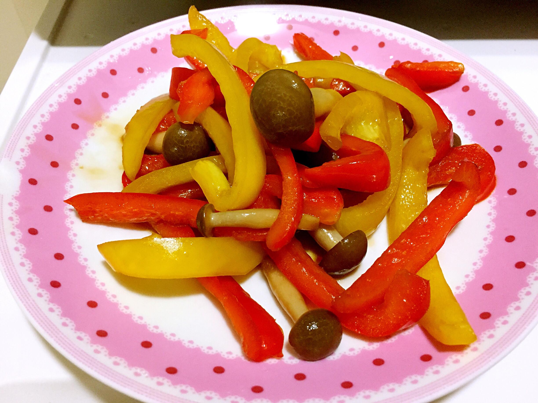 甜椒炒鴻喜菇