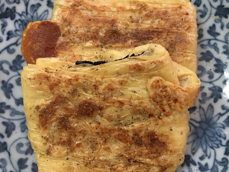 海苔起司煎豆包⋯奶素