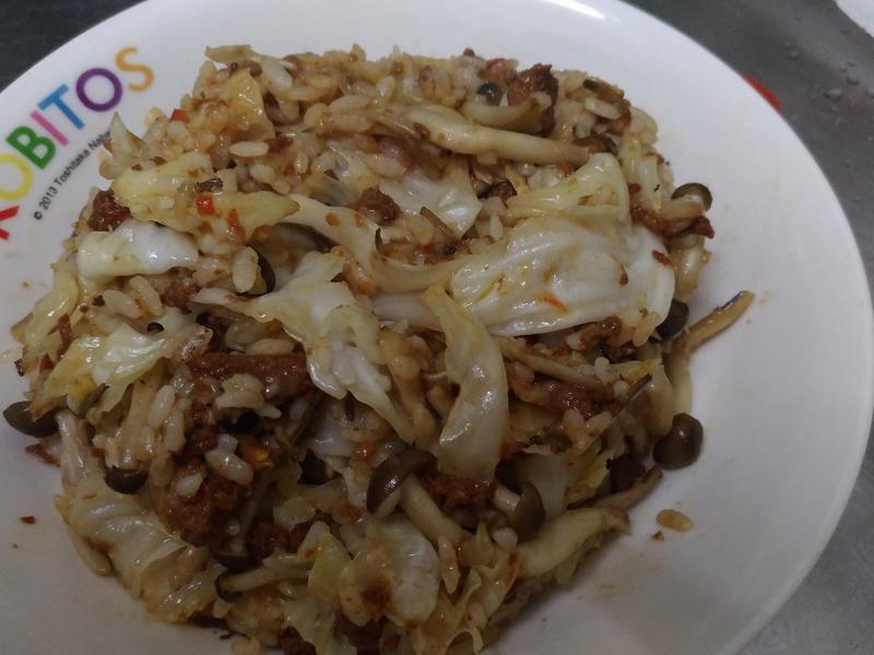 辣肉菇菇奶油炒飯