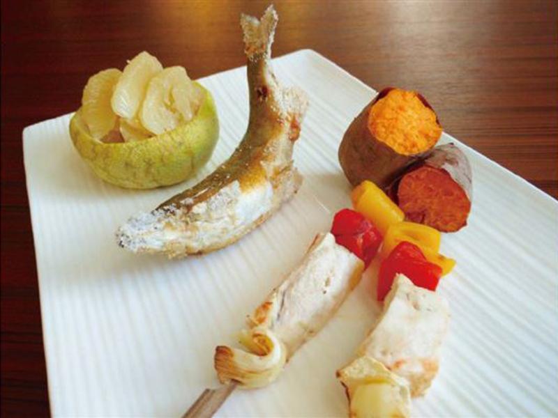 【腹膜透析】秋日舒活鹽烤香魚雞肉串套餐
