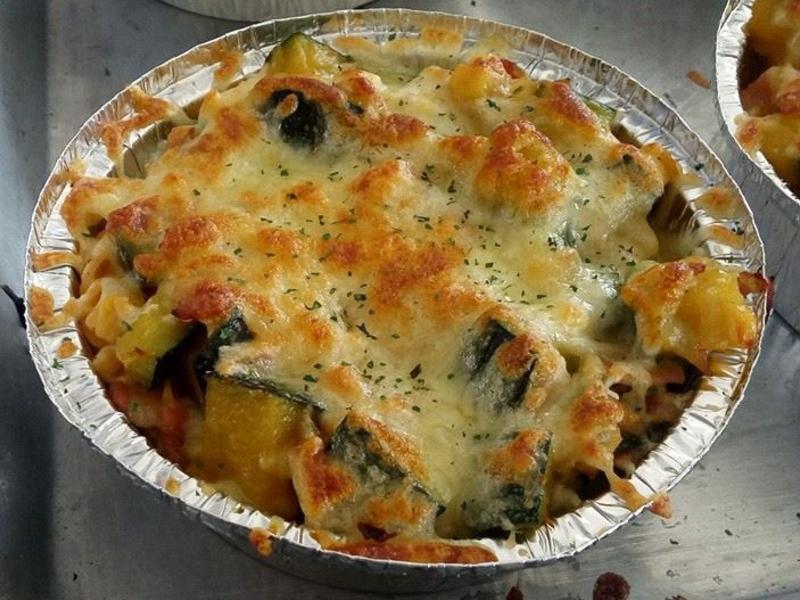 奶油培根南瓜焗烤義大利麵