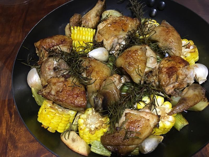 迷迭香蔬菜烤雞