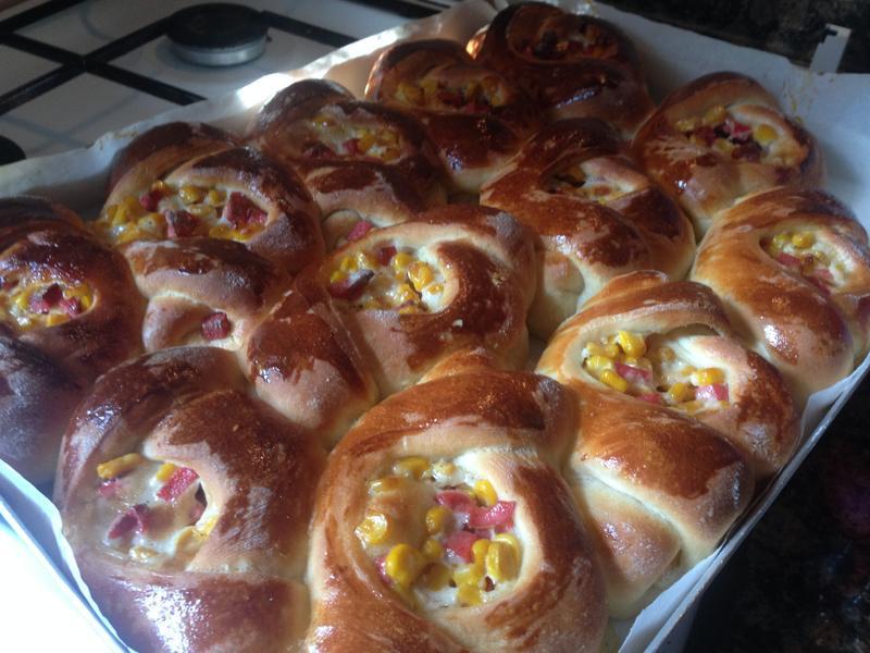 麵包10---玉米火腿麵包