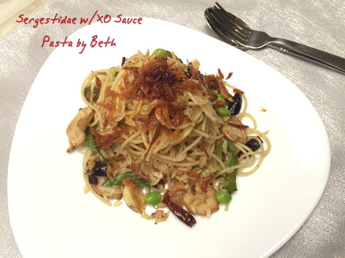 櫻花蝦XO醬義大利麵
