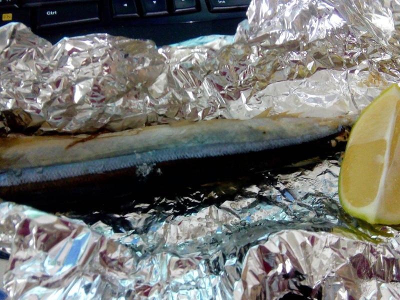 簡單烤秋刀魚