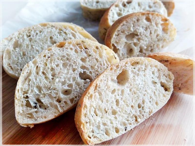 義式香料鹹麵包(免揉無糖無油低溫發酵麵團