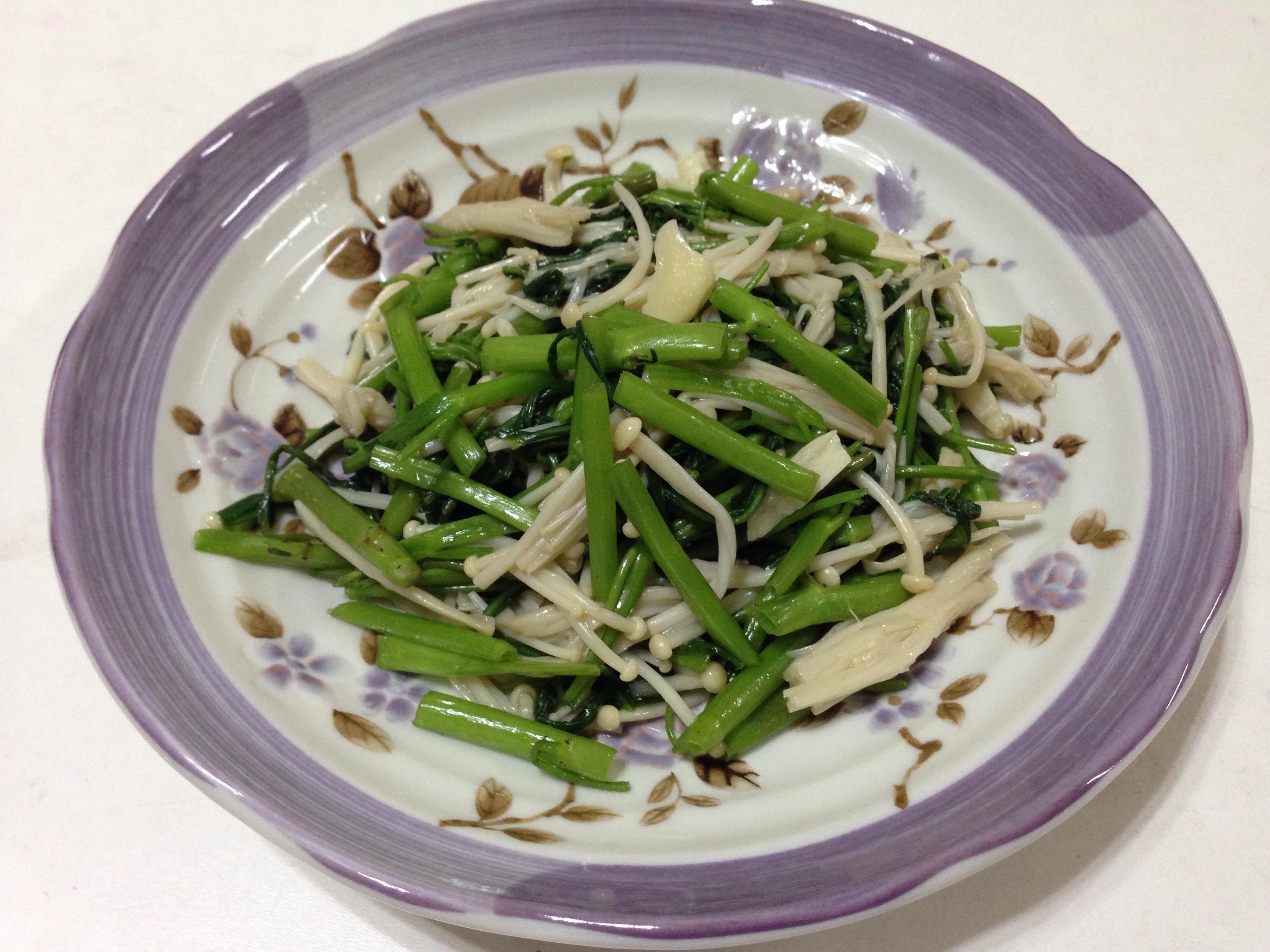 空心菜燴金針菇