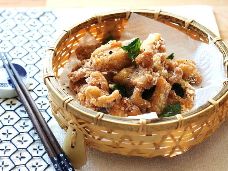 ♥開動with貓♥美味鹹酥雞
