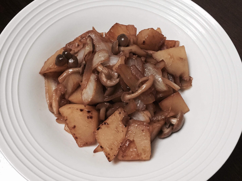 洋蔥馬鈴薯炒菇(10分鐘料理)
