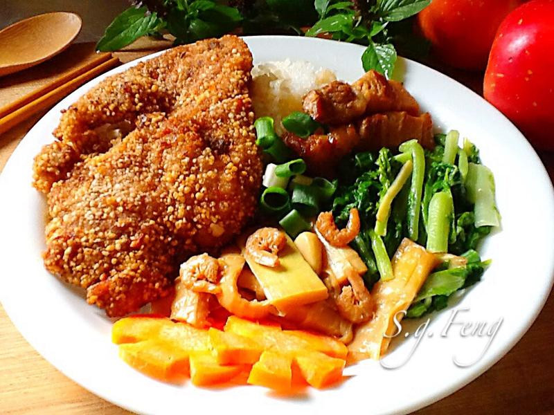 排骨飯-台式豬排