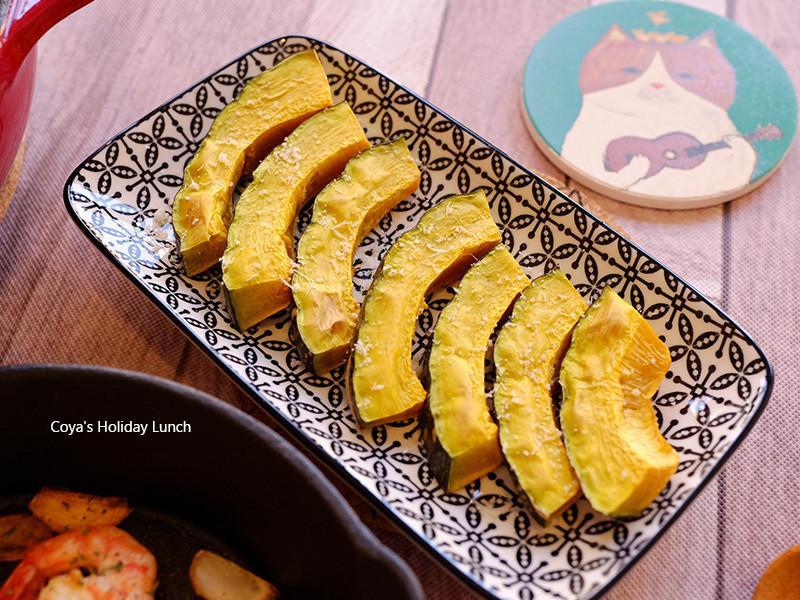 帕馬森烤南瓜、烤南瓜籽-烤箱料理
