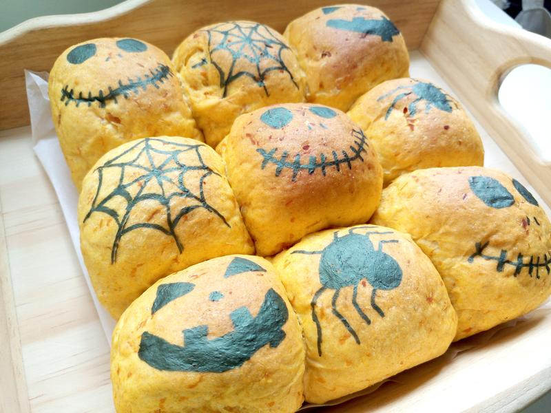 南瓜包(9個餐包及3個小鬼造型包)
