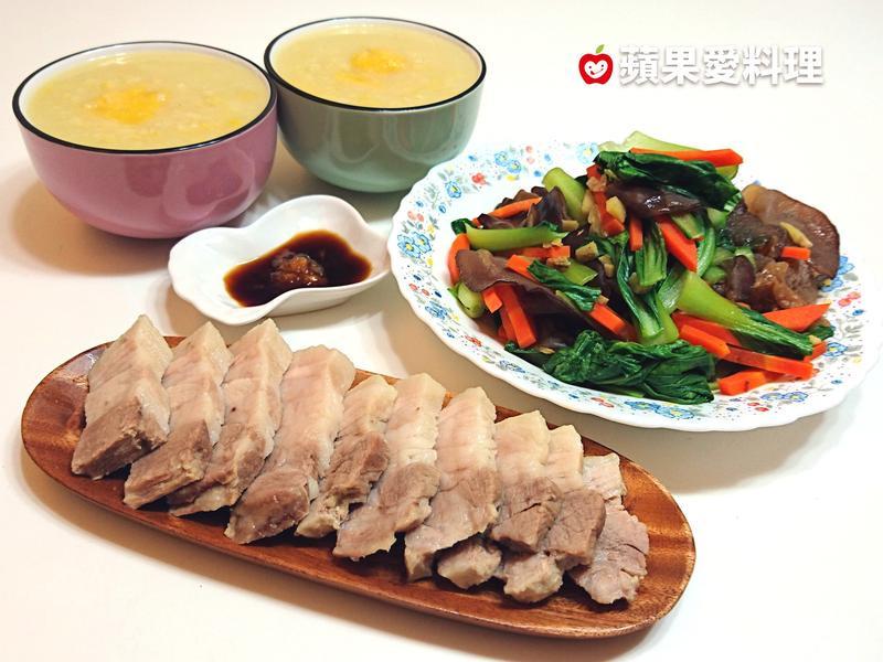 筍香地瓜粥+蒜泥白肉(1鍋2菜)