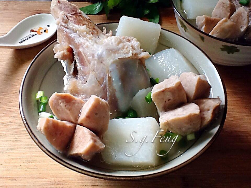 蘿蔔貢丸大骨湯