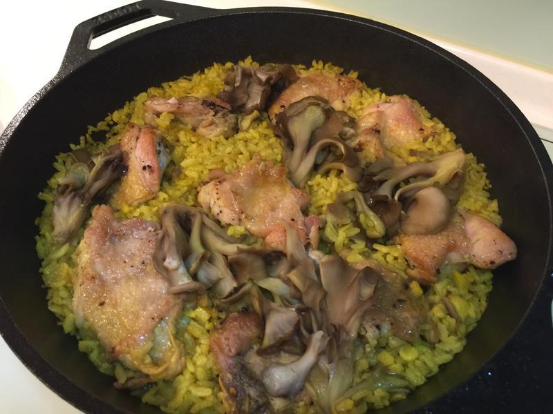 鑄鐵鍋之薑黃雞炊飯Lodge鍋