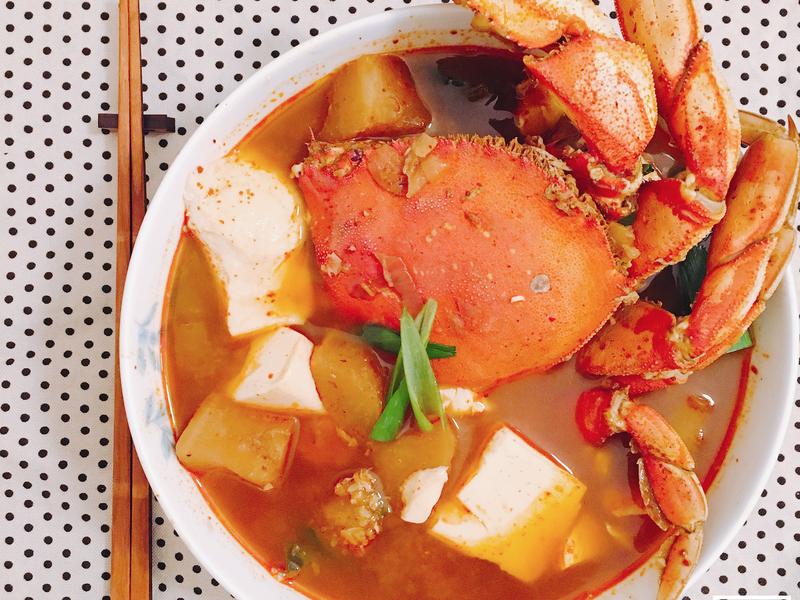 ▶︎韓式◀︎—辣螃蟹湯2.0 꽃게탕