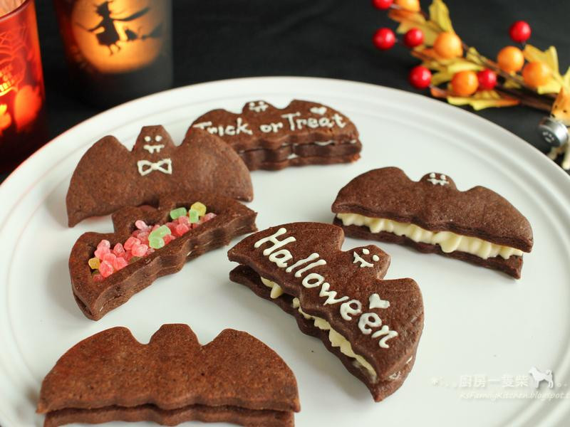 萬聖節-蝙蝠巧克力夾心餅乾