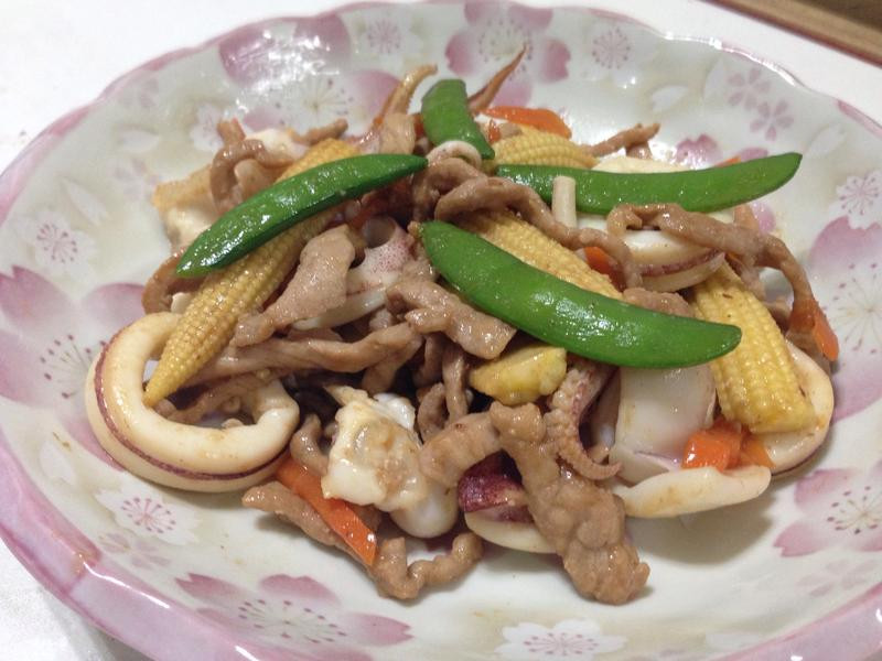 海陸炒鮮蔬
