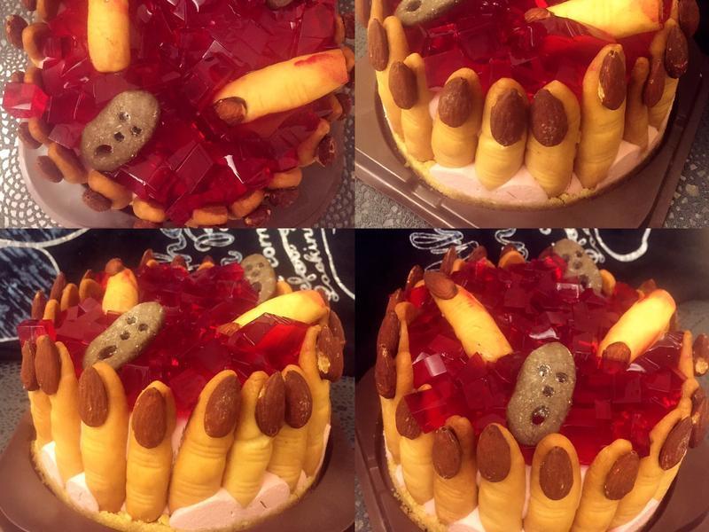 萬聖節巫婆手指起士蛋糕