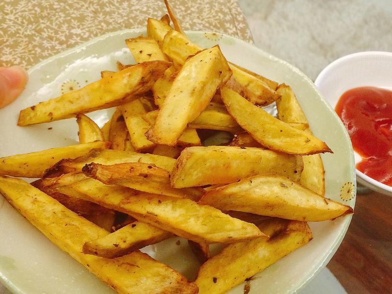 想吃薯條不怕罪惡感 烤地瓜薯條