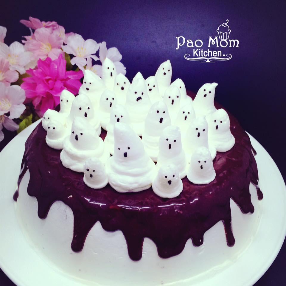 萬聖節幽靈蛋糕