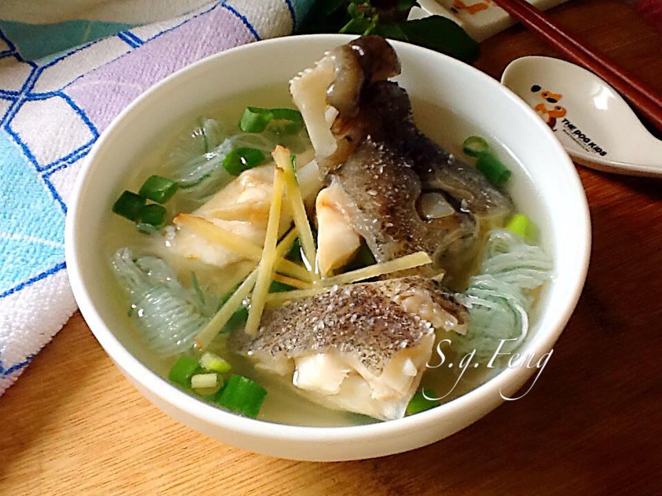 蒟蒻薑絲石斑魚湯