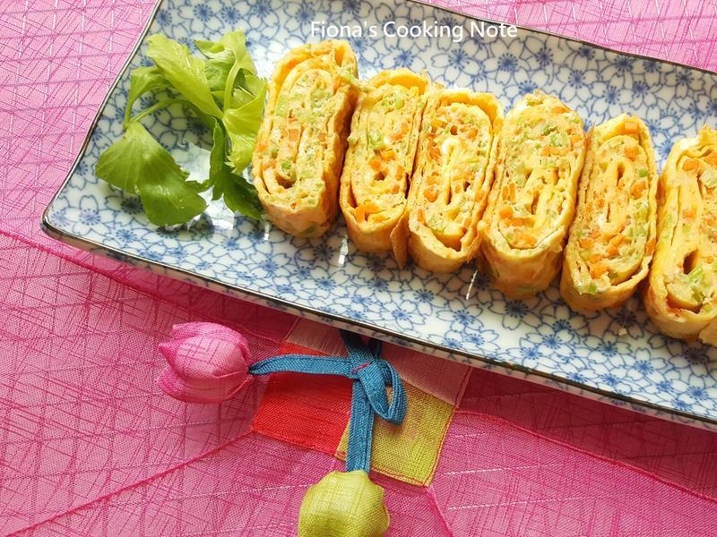 韓式雞蛋捲~(平底鍋煎法)