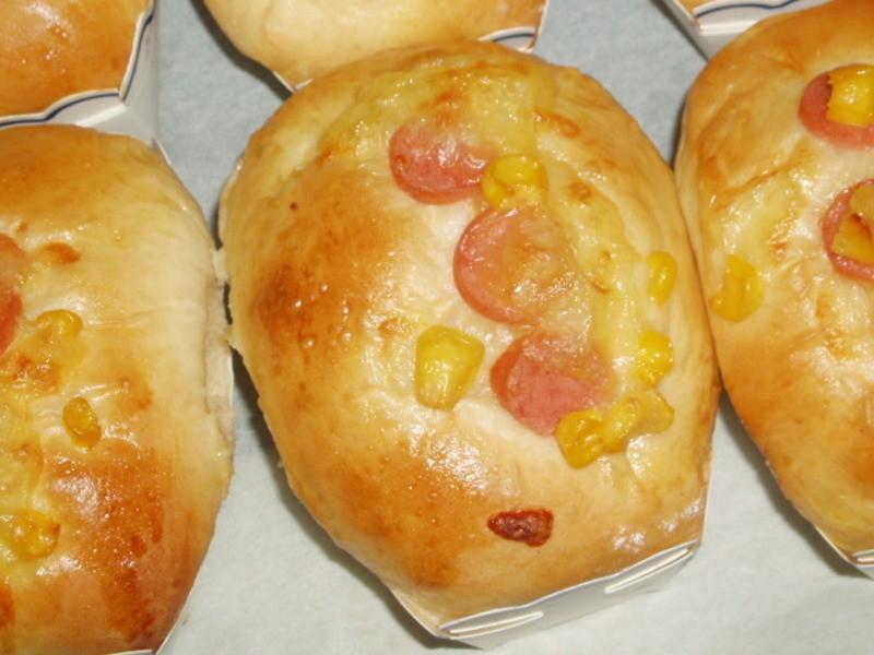 ㄚ曼達的廚房~玉米火腿麵包