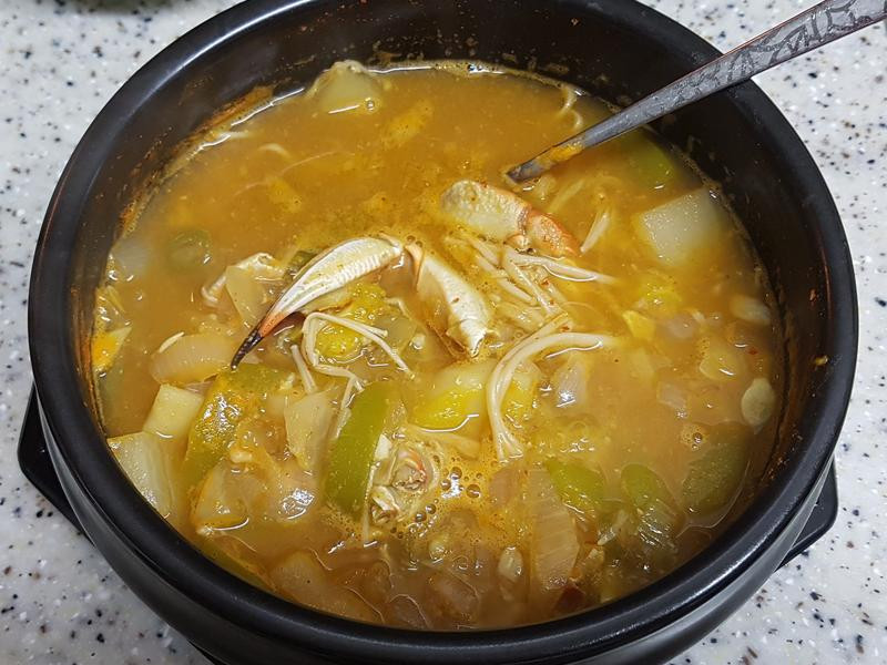 (韓式) 螃蟹大醬湯 꽃게된장찌개
