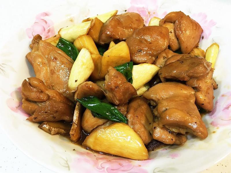 茭白筍燒雞