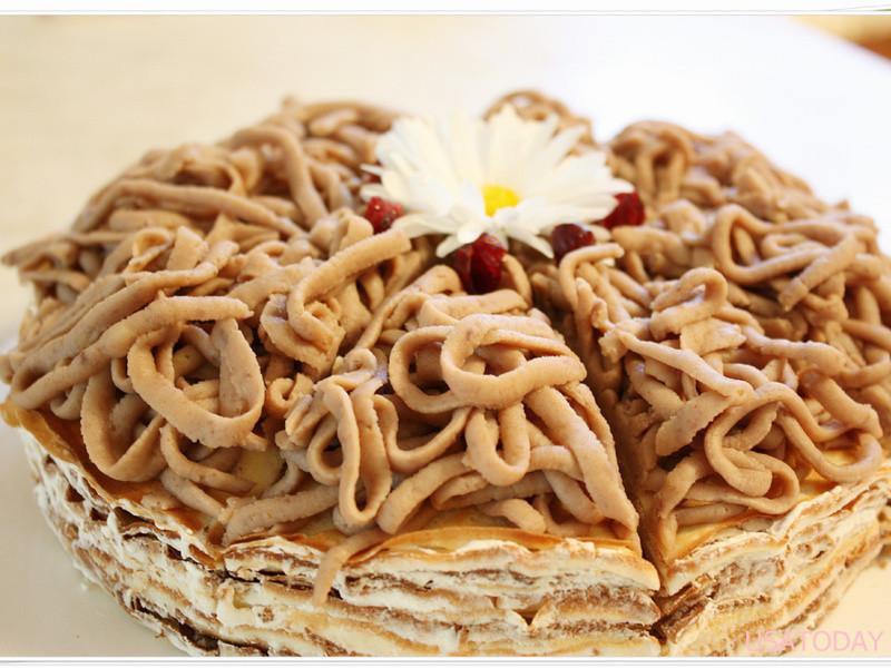 【甜牙齒】免烤箱之香濃粟子泥千層蛋糕Chestnut Puree Crêpe Cake