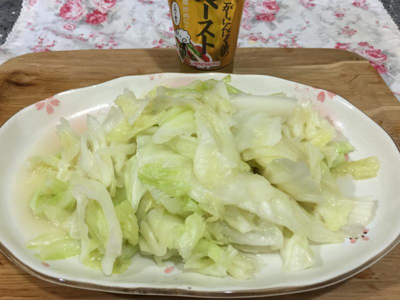 超簡易日式塩味炒高麗菜
