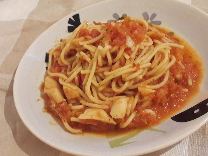 杏包菇義大利麵