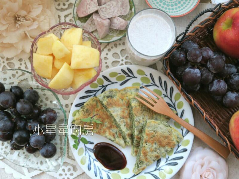 紫菜煎餅及芋頭牛奶