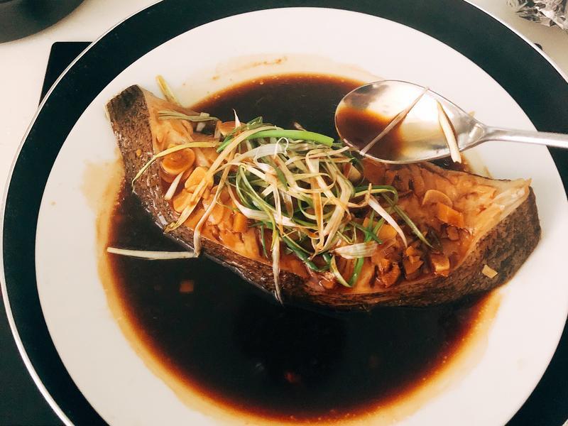 清蒸鱈魚(比目魚)