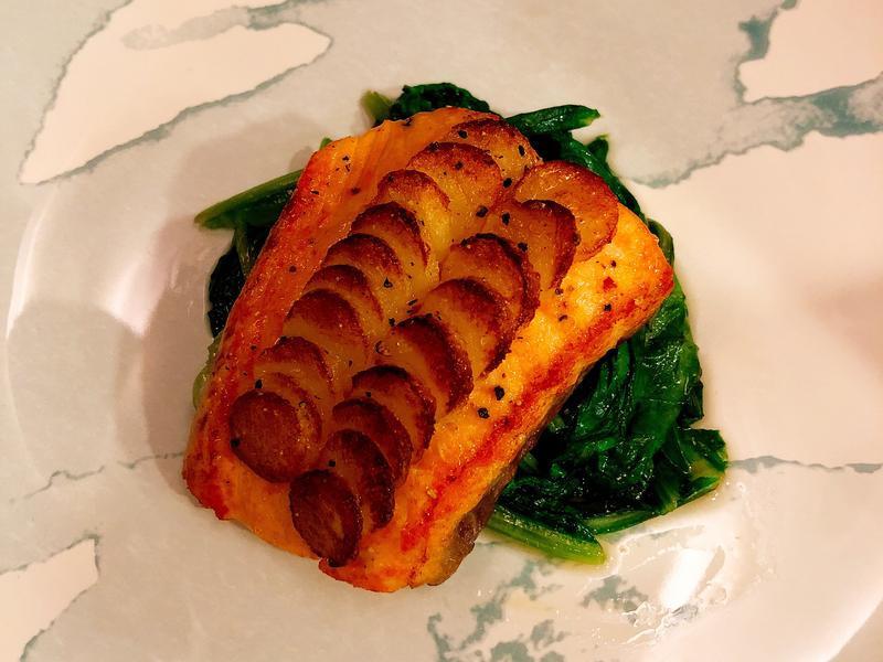 馬鈴薯煎鮭魚