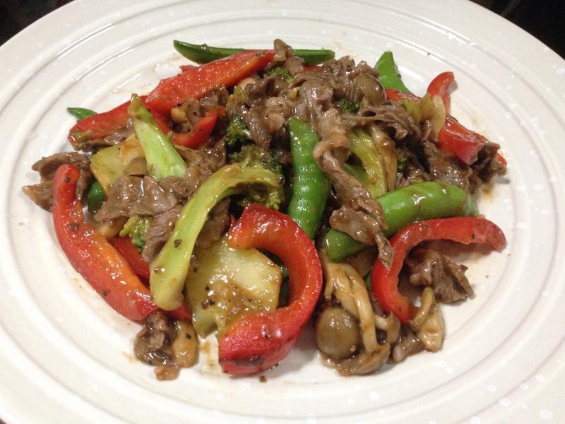 蘑菇醬炒時蔬牛