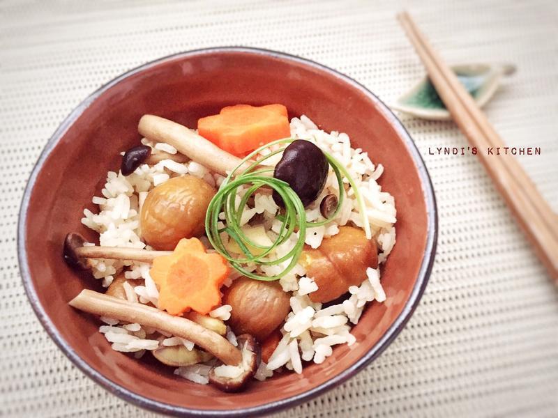秋日栗子菇菇炊飯