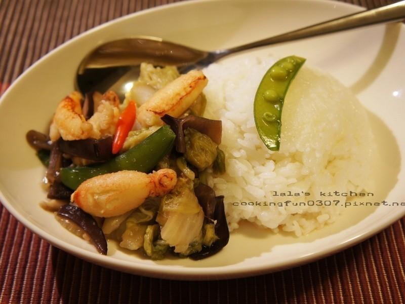 蟹肉白菜蓋飯