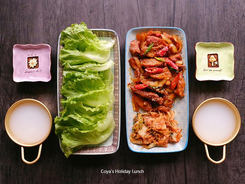 韓式辣炒豬-菜包肉超滿足