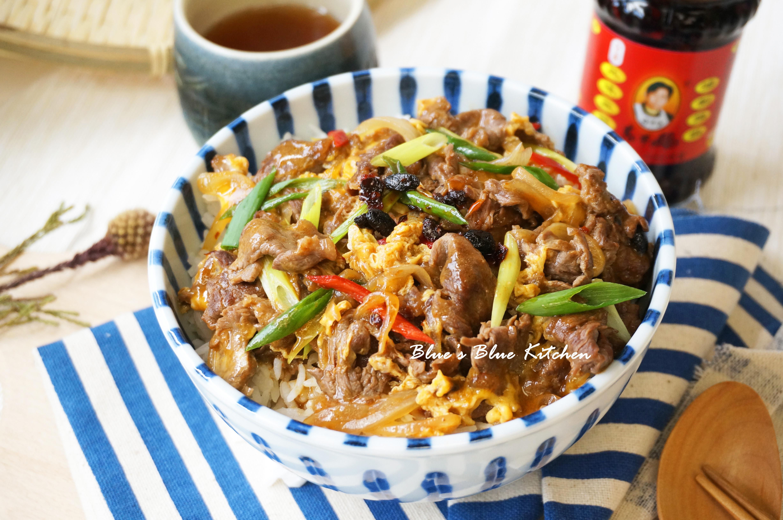 豉香牛肉丼飯 (平底鍋一鍋到底料理)
